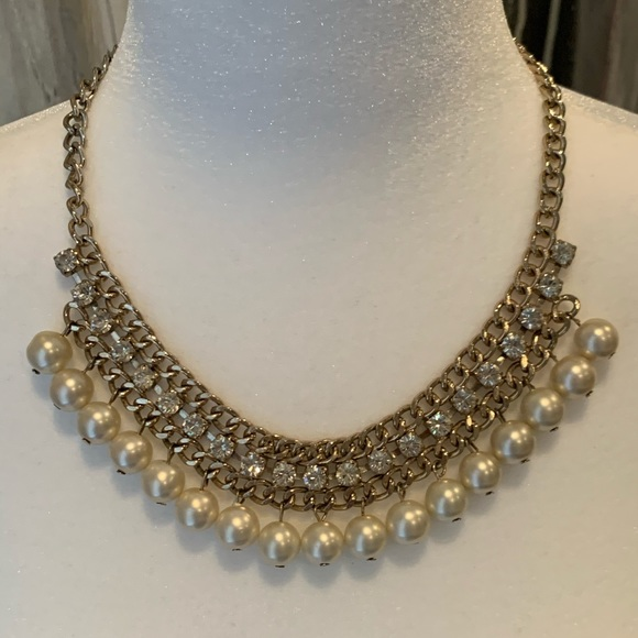 Aldo Jewelry - ALDO faux Pearl and Crystal Accent Necklace